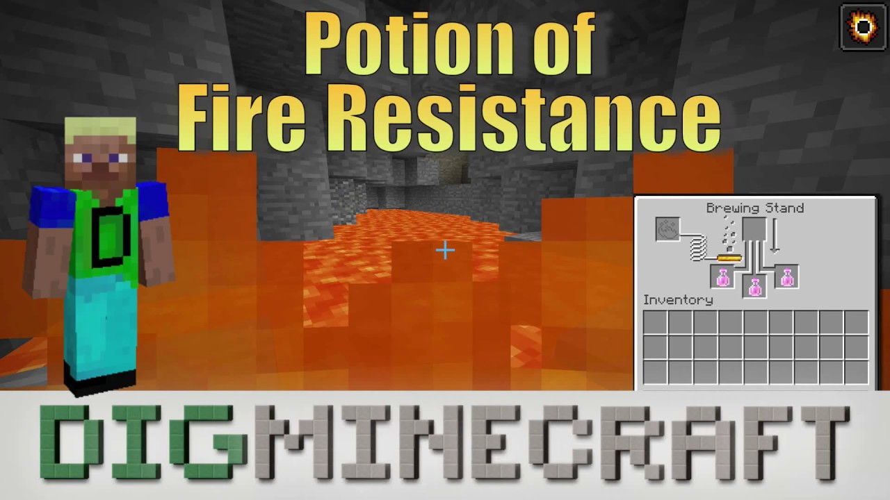How to make a Potion of Fire Resistance (8:00) in Minecraft