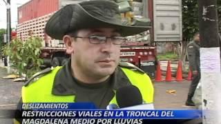 Restricciones viales en la Troncal del Magdalena Medio por lluvias
