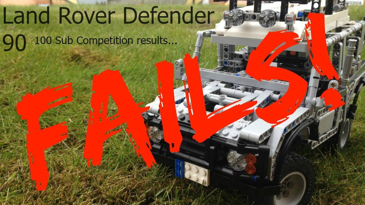 lego technic land rover defender fails crashes youtube. Black Bedroom Furniture Sets. Home Design Ideas