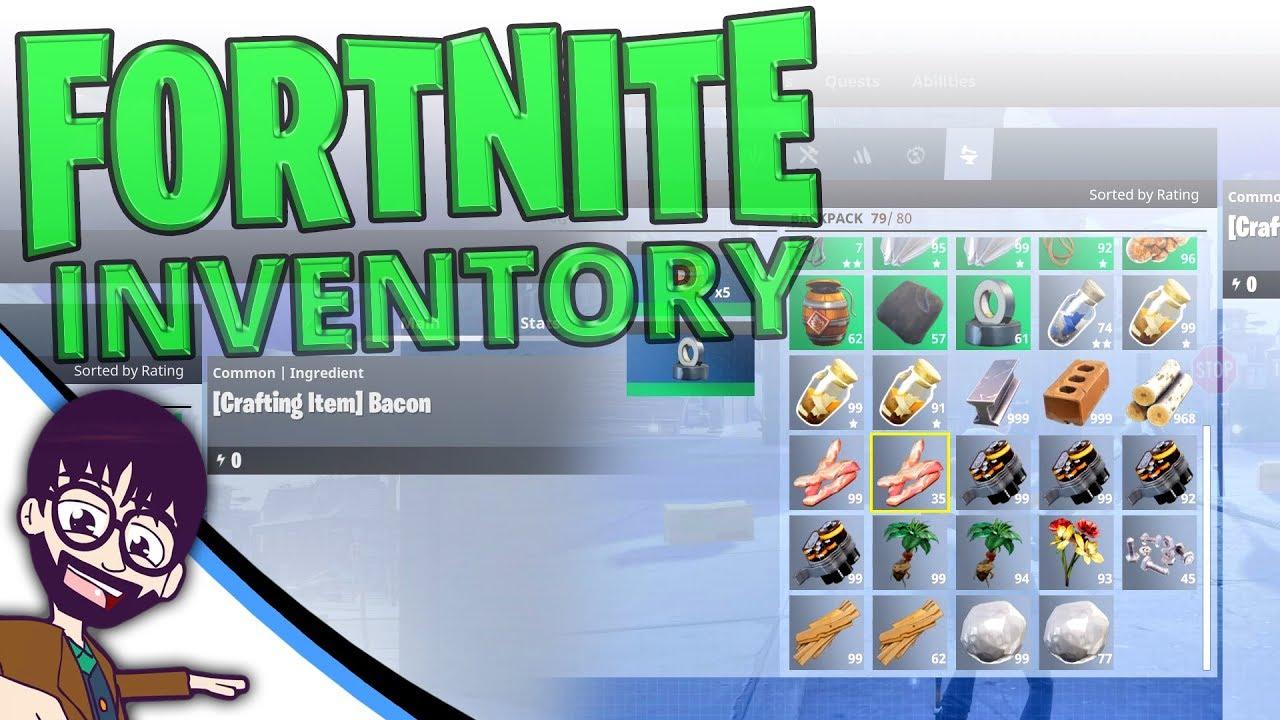 Fortnite Backpack Inventory Management Youtube