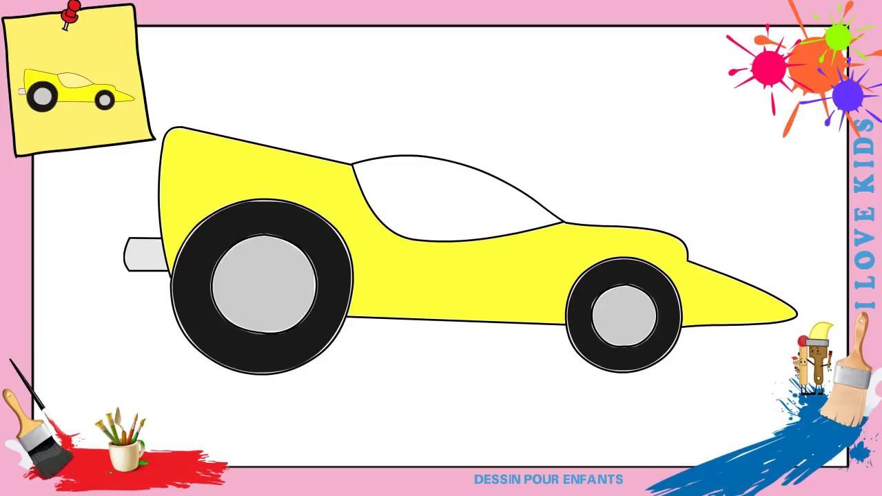Dessin voiture de course 2 - Comment dessiner une voiture ...