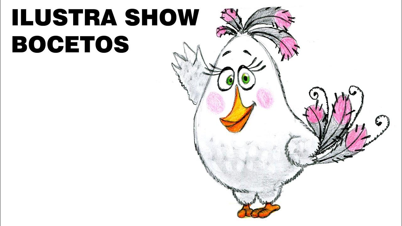 Cómo dibujar a MATILDA de ANGRY BIRDS la película Tutorial ILUSTRA ...