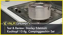 Test & Review: Stanley Edelstahl Kochtopf - 10 tlg. Campinggeschirr Set