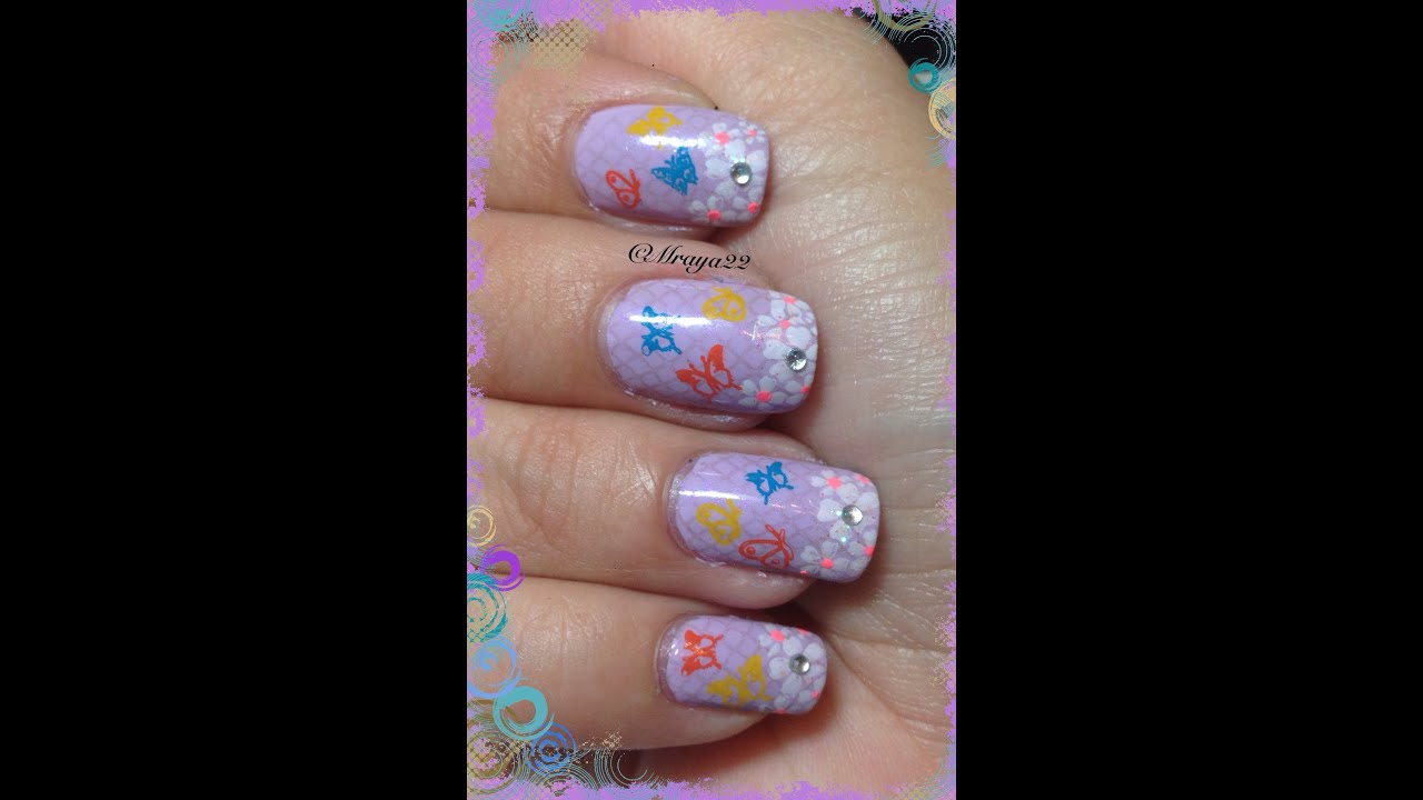 U as con mariposas y flores youtube - Decoracion con mariposas ...