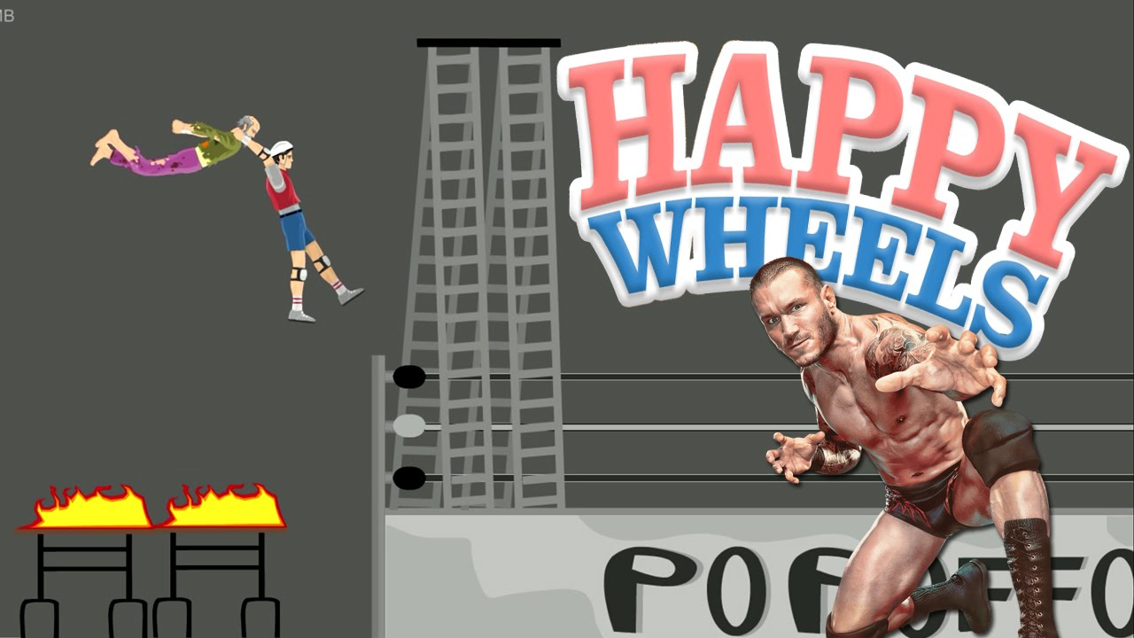 Happy Wheels Wwe Rko Part 386 Youtube