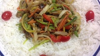 Sautéed Shredded Vegetables With Rice