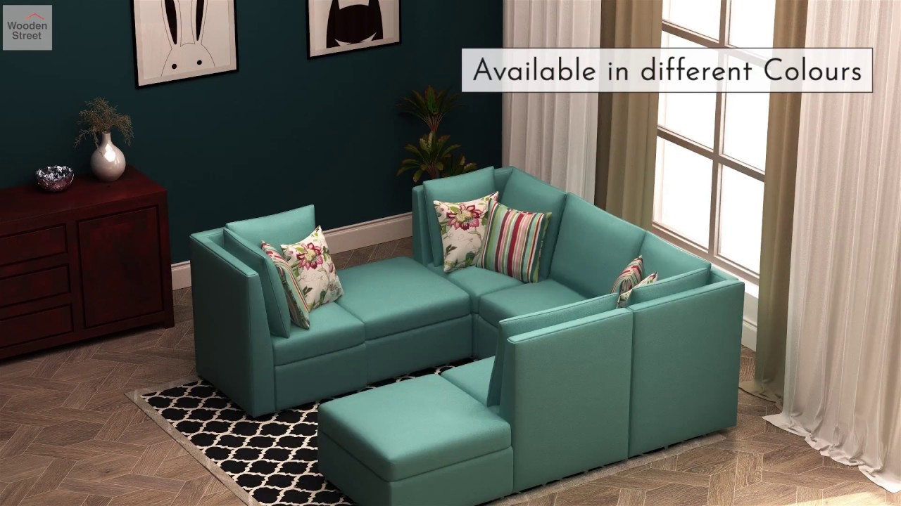 Lawson Sectional Sofa | Sectional Sofa Designs - Wooden Street - YouTube