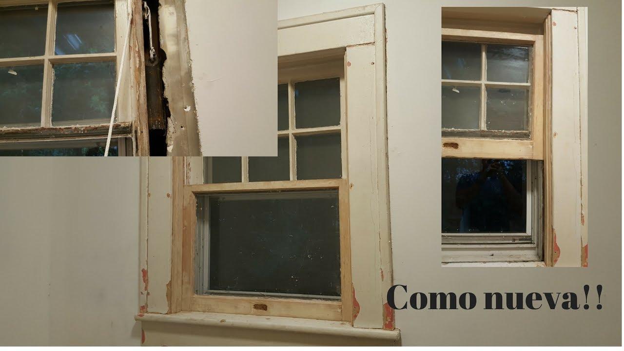 Como reparar las pesas de una ventana antigua - YouTube