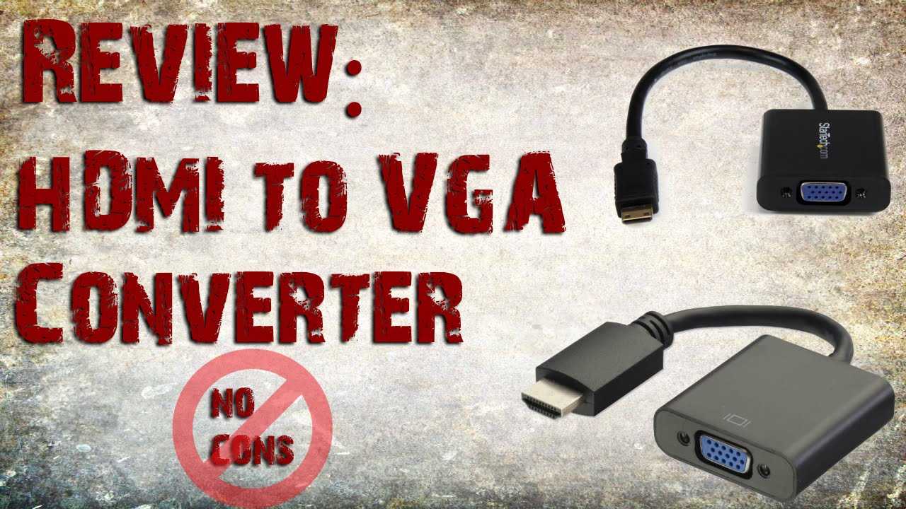 Review Hdmi To Vga Converter Youtube Cabel