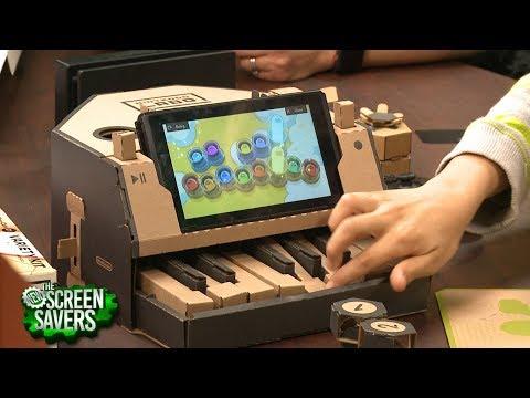 The New Screen Savers 153: Nintendo Labo's DIY High Tech Cardboard Toys