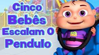Cinco Bebês Escalam o Pendulo I Canção do Pendulo I Canções Infantis I Videogyan Português