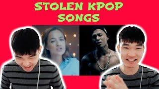 Download Video KOREAN REACTS: STOLEN KPOP SONGS MP3 3GP MP4