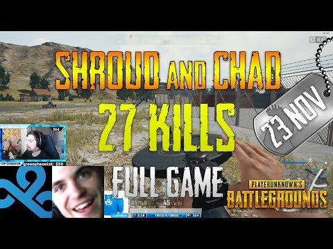 PUBG | Shroud and Chad | 27 Kills (Test Server)