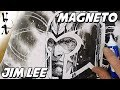 Jim Lee drawing Magneto during Twitch Stream