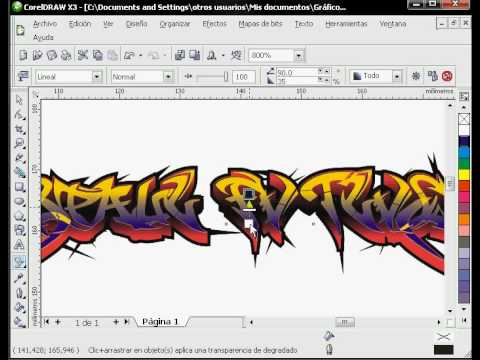 graffiti en corel draw x3 parte 1 tutorial bueno youtube rh youtube com manual corel draw x3 pdf tutorial corel x3