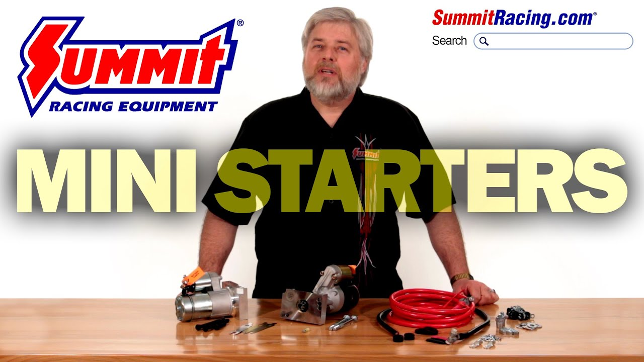 Summit Racing Mini High Torque Starters For Gm Youtube Drag Race Car Wiring Systems