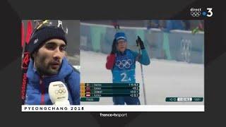 JO 2018 : Biathlon - Relais Hommes Martin Fourcade :