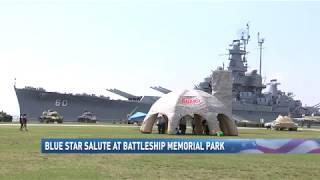 Blue Star Salute at Battleship Memorial Park - NBC 15 News, WPMI