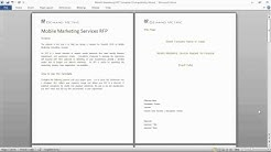 Mobile Marketing Services RFP Template