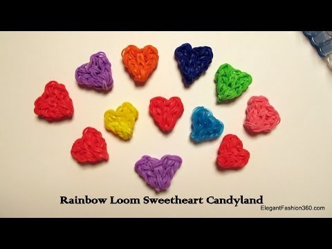 Rainbow Loom Heart Charms Heart Shaped Candy : How To