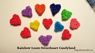 Rainbow Loom Heart Charms - Heart Shaped Candy : How to