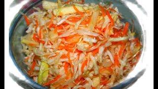 Вкусный салат из свежих овощей (ВИТАМИННЫЙ)
