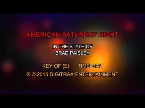 Brad Paisley - American Saturday Night (Backing Track)