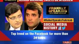 #RahulSpeaksToArnab: Tweets history
