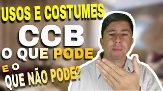 A CONGREGAÇÃO CRISTÃ NO BRASIL TEM ALGUMAS RESTRIÇÕES NO TOCANTE A ...