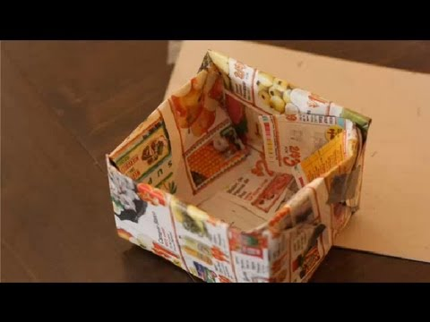 What can you make with waste paper paper crafts youtube for Waste paper craft