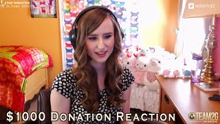 $1000 Donation Reaction