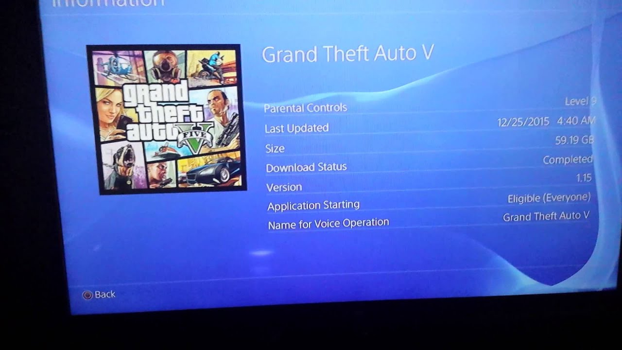 ps4 gta 5 download size