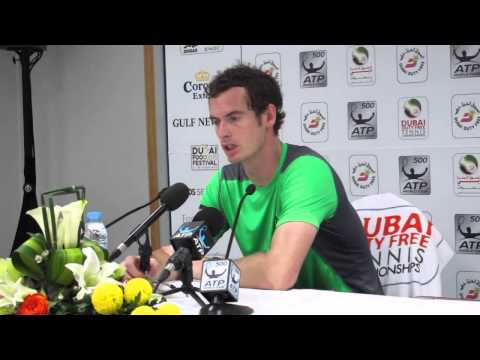 Andy Murray after losing to Borna Coric