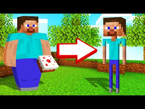 MINECRAFT But EACH STEP Makes You LOSE WEIGHT!
