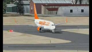 Microsft Flight Simulator X-EasyJet Landing At Palma Mallorca