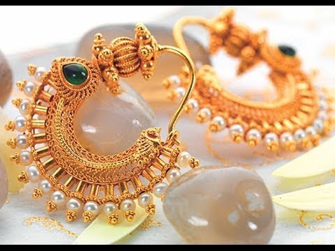 Latest South Indian Pearl Earrings Designs Jewellery
