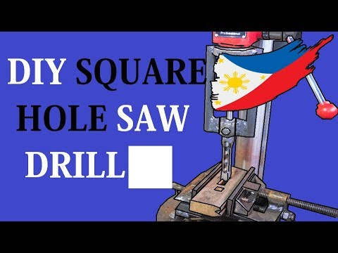 Diy Square Drill Hole Saw (MORTISING CHISEL)