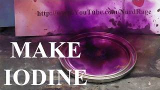 Make Iodine from Sulfuric acid and Alkali Metal Iodide