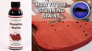 Crimson Guitars stunning stains demonstration  - part 1