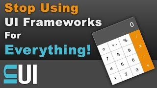 Stop Using JavaScript UI Frameworks For Everything!