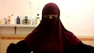 Hijab Niqab Puting on