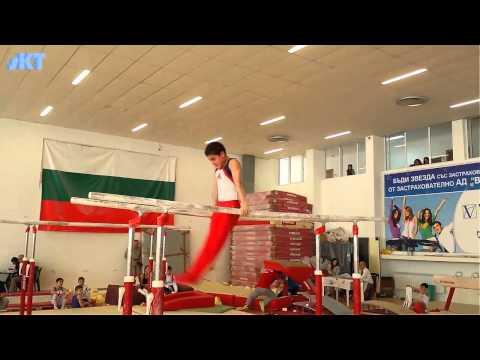 Nice parallel bars routine by the champion David Huddleston  BUL national team member sKT