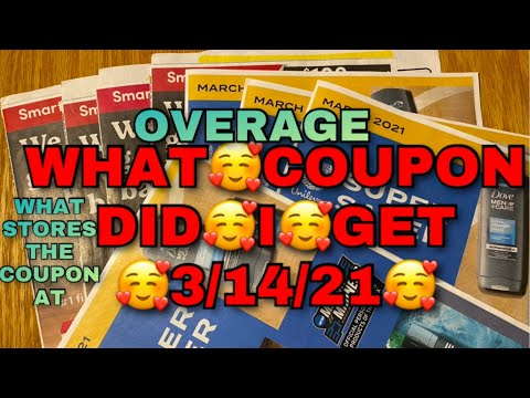 WHAT COUPON DID I GET * 3/14 EARLY COUPON PREVIEW * OVERAGES * STORE TO GO COUPON AT 🥰🥰🥰
