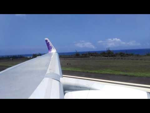 Hawaiian Airlines Boeing 767-300ER takeoff from Lihue