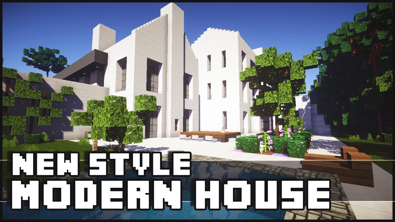 Minecraft new style modern house youube keralis small modern house 18x18