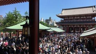 """有着古代歴史気分的佛教寺院""""浅草"""", 是東京比较有名気的旅游景点。浅草,..."""