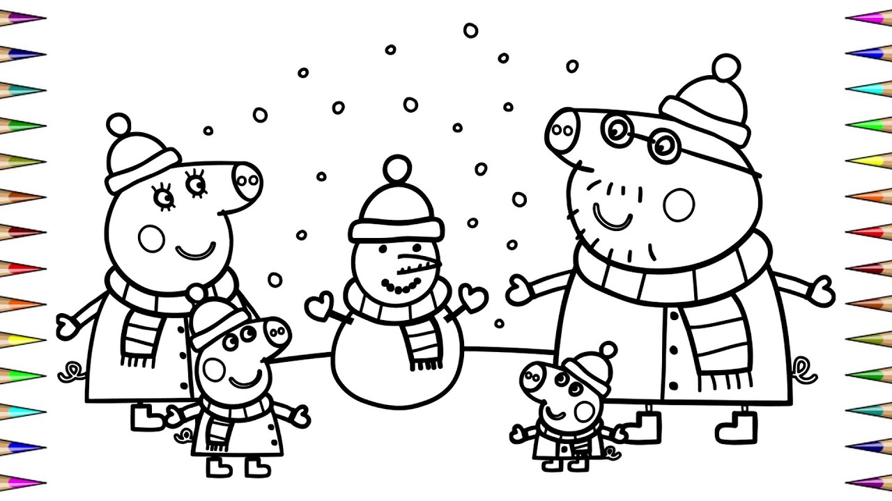 PEPPA PIG Merry Christmas 2020 | Coloring Book | Раскраска ...