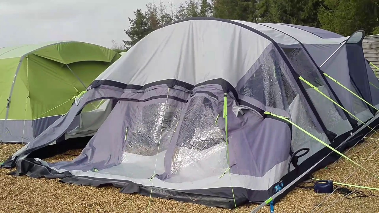 Outwell Windstorm 12v pump inflating a K&a air tent .inflatabletentsonline.co.uk & Outwell Windstorm 12v pump inflating a Kampa air tent www ...