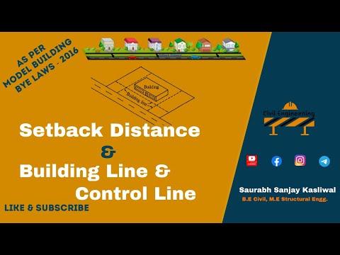 Setback Distance, Building Line and Control Line