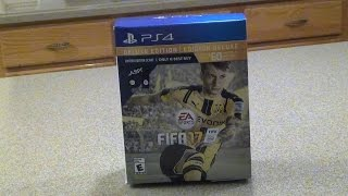 FIFA 17 DELUXE EDITON SCARF BUNDLE UNBOXING - PlayStation 4